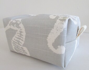 Nautical Makeup Bag -  Makeup Bag - Cosmetic Bag - Large Makeup Bag - Waterproof Makeup Bag