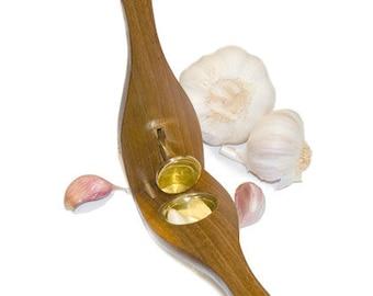 Garlic Presses - recycled teak wood