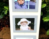 Wood Plank Frame, Distressed Picture Frame, Triple Frame, 5x7 Picture Frames, Ivory Picture Frame, College Frame