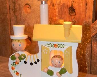 Irmi Lamp, Nursery Lamp, Vintage Irmi Childs Lamp, Wooden Shoe Lamp