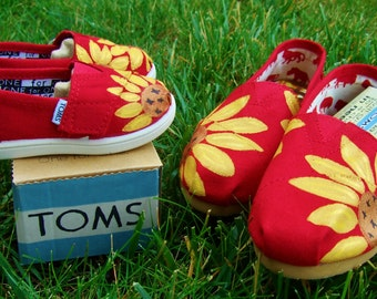 Mommy and Me Matching Custom Painted TOMS shoes