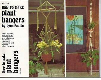 How to Make Plant Hangers Macrame Pattern Book HP 420