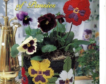 Pot Full of Pansies Plastic Canvas Pattern The Needlecraft Shop 954011