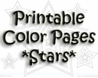 Stars Printable Coloring Book Digital Patriotic Color Pages Zen Doodle Templates Nine ZenDoodle