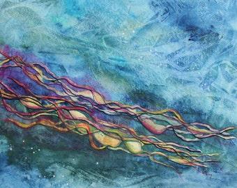 "Original Gouache Painting - ""Drifting"""