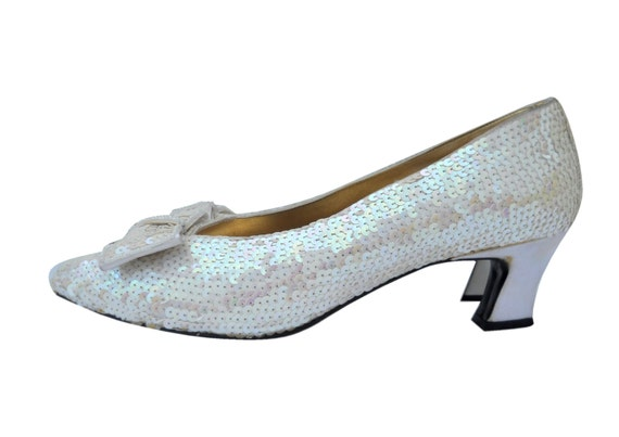 sequin shoes white pumps sparkle heels sparkle shoes white