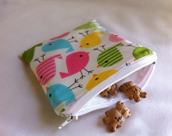 Reusable Snack Bag 5 in x 5 in in Chicks
