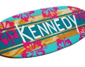 Personalized Beach Sign, Surfboard Wall Art, Surfboard Decor, Beach Nursery, Wooden Surfing Sign