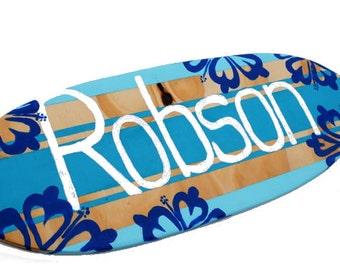 Beach Themed Wall Decor, Decorative Surfboard, Boys Room Decor, Personalized Surfboard Decor, Customized Surf Decor, Turquoise Beach Signs