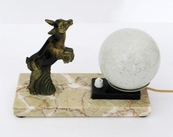 Table Lamp, French Art Deco, Animal Table Lamp , French Table Lamp, Marble Table Lamp, Art Deco Table Lamp (150)