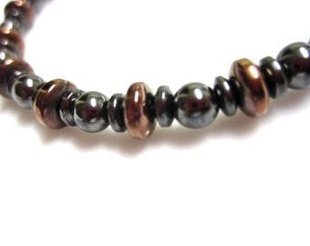 Magnetic Hematite Anklet - Black Hematite and Copper - Bracelet, Anklet, Necklace, or Pet Collar
