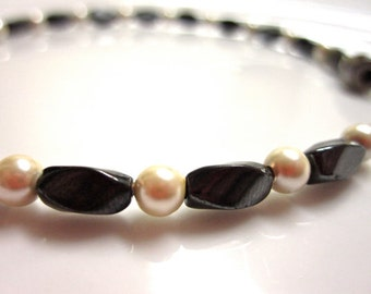 Magnetic Hematite Bracelet - Magnetic Pearls