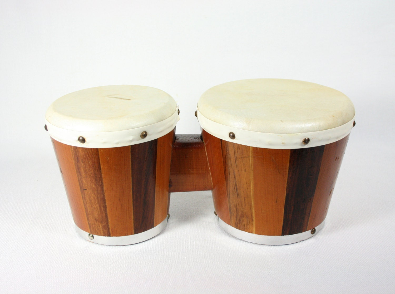 Vintage wood bongos bongo drums made in mexico