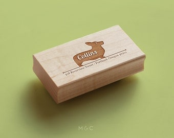 Corgi or Cardigan- Personalized Address Stamp