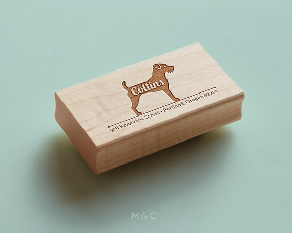 Jack Russell - Single - Personalized Return Address Stamp