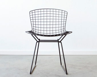BERTOIA x Cast + Crew KNOLL Custom Dipped Wire Side Chair Black