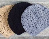 Open Lace Slouchy Beanie