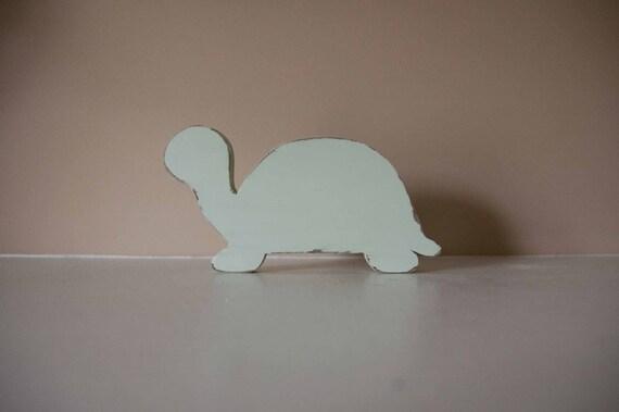 Turtle Nursery Decor, Wood Turtle, Turtle Figurine