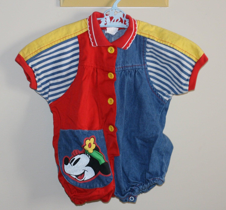 vintage retro 80 s baby clothing retro and blue denim