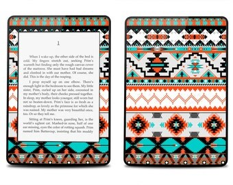 Amazon Kindle Paperwhite Skin Cover - Aztec Geometric Pattern - Kindle Cover, Kindle Paperwhite Cover