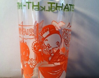 Vintage Warner Bros. 1970's Jelly Glass Drinking Glass Cup