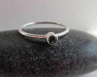 Tiny Birthstone Ring - Stacking Ring - Mix & Match