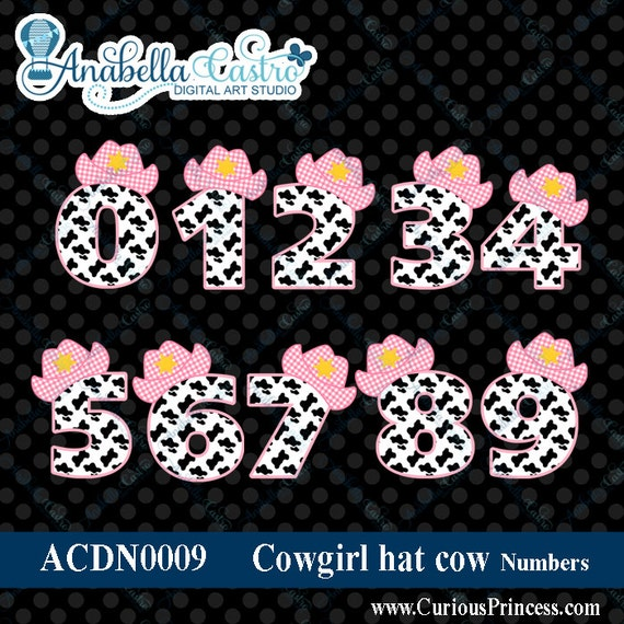 INSTANT DOWNLOAD Pink cowgirl hat clipart by ACDigitalArtStudio