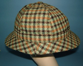 Vintage Macnaughtons of Pitlochry Scotland 100% Wool Deerstalker Hat - Sherlock Holmes Vintage Hat Vintage Deerstalker