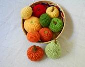 MADE TO ORDER Custom Educational Realistic Play Fruit Crochet Amigurumi Soft Toys