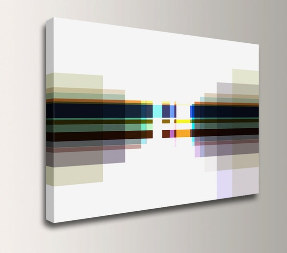 "Modern Canvas Print - Neutral Tones - Digital Canvas Print - Minimal Geometric Art - ""Cubicles"""