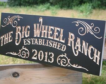 Family Farm Sign, Family Ranch Sign, Rustic Home Décor, Fixer Upper Sign, Farmhouse Décor, Farm Sign, Benchmark Signs Maple BW