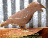 Rusty Crow Raven Metal Garden Art Recycled