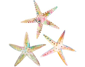 Coastal Art.  Beach Decor.  Starfish Print.