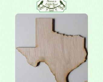 Texas State (Medium) Wood Cut Out - Laser Cut