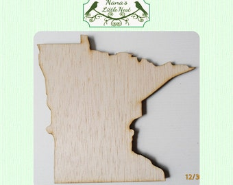 Minnesota State (Medium) Wood Cut Out - Laser Cut