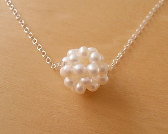 Silver & Pearl Necklace - Wedding Jewellery, Bridesmaid Gifts, Everyday Jewellery