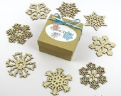 60% OFF CLEARANCE! 2012 Collection 1 - Wooden Laser-Cut Holiday Snowflake Ornaments - 3 Inch Diameter - Set of 8 in Gift Box