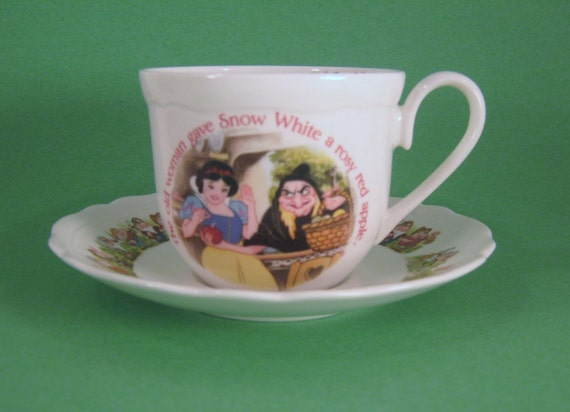 Aynsley China Disney Snow White Cup And Saucer Set