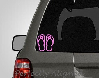 Flip Flop Sandal Car Decal - Laptop decal - Macbook decal etc...