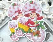 Vintage Strawberry Shortcake Gift Tags (6) - Strawberry Favor Tags-Treat Tags-Strawberry Party-Strawberry Baby Shower-Berry 1st Birthday
