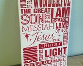 Christmas Subway Art VINYL ONLY -  Jesus - Xmas - Vinyl Art Wall Decal - Multiple sizes available