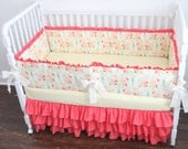 Designer Coral Crib Bedding Set