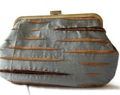 """New Purse Clutch Bag Handbag """"The Two-For-One"""" Blue and Brown"""