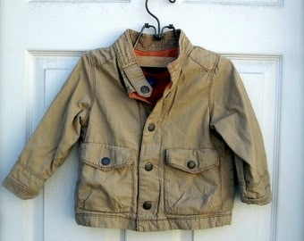 VINTAGE khaki tan jacket  for little boys, fall fashion for little boys, khaki tan  jacket for little boys (2T)