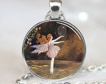 Dancing Fairy with Bubble  Necklace Pendant (PD0428)