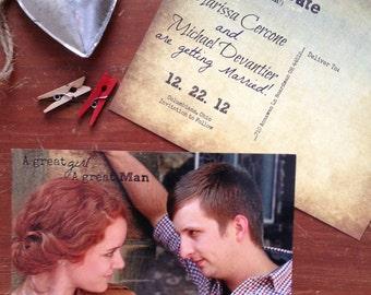 Save the Date Postcard : Devantier