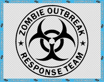 """5"""" x 5"""" Zombie Outbreak Response Team Vinyl Decal / Cell Phone Decal / Laptop Decal / Tablet Decal / Apocalypse Decal / Window Decal"""