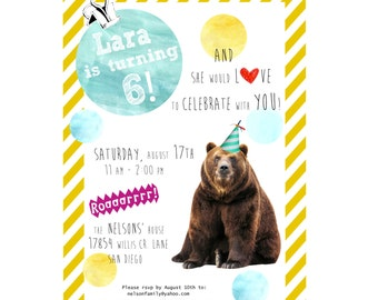 Personalized Birthday Party Invitation PRINTABLE PDF