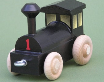 Wooden Toy Train Steam Switch Engine