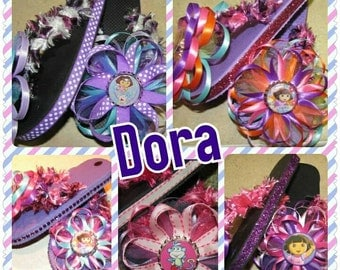 Dora Flip Flops - this listing is for 1 pair